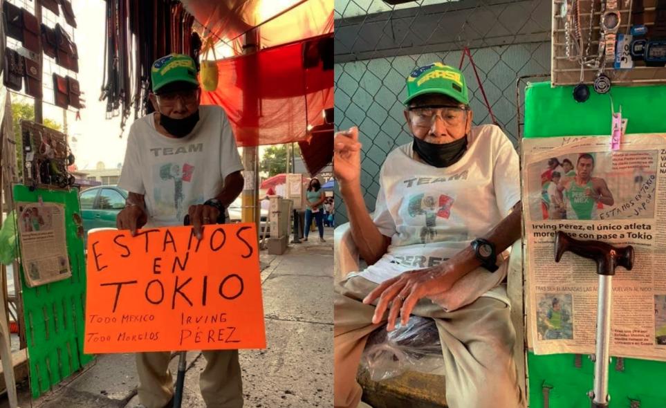 Abuelo apoya a su nieto desde su puesto en Jojutla, Morelos