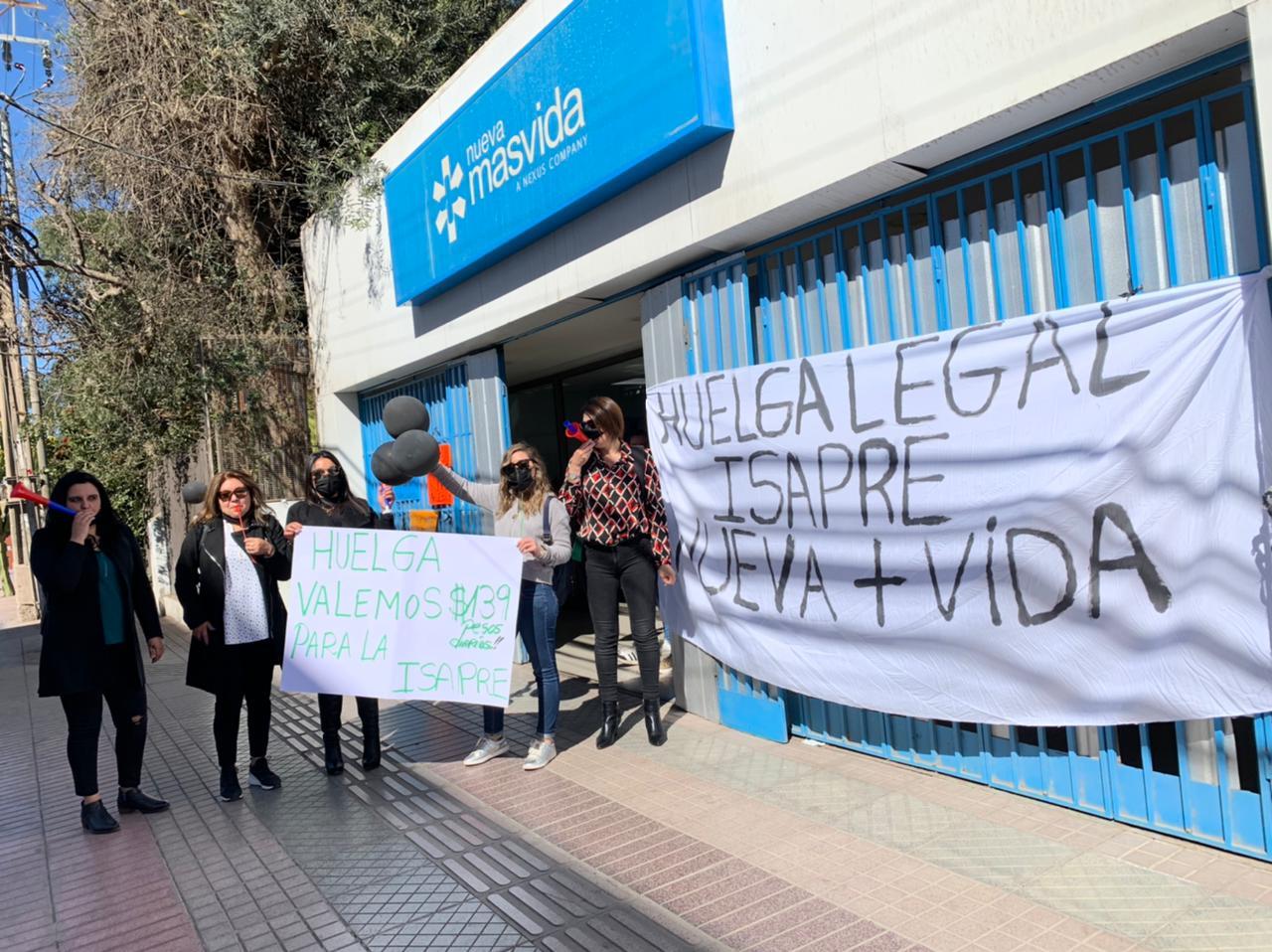 Sindicato de Isapre Nueva Más Vida en huelga tras fracaso de negociación colectiva con la empresa