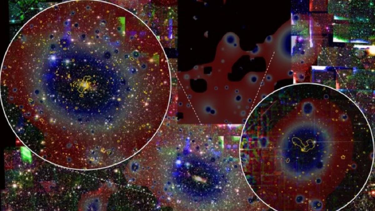 Descubren grupos de galaxias en camino hacia una épica colisión