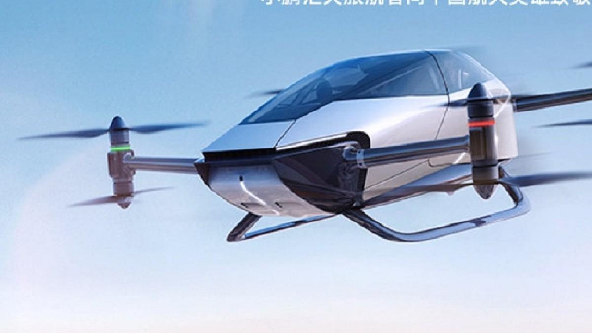 (Video) China lanza auto volador impulsado por energía eléctrica