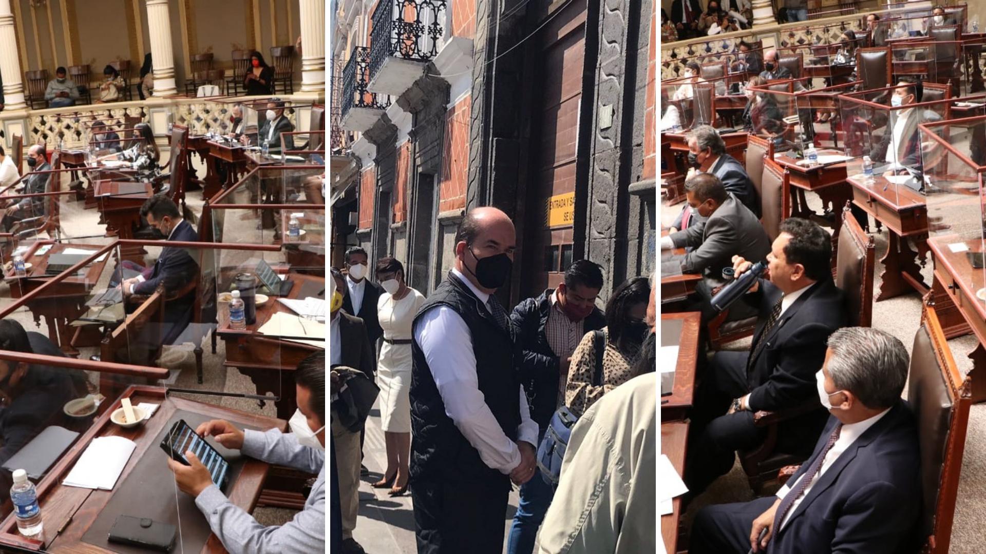 FOTONOTA| Así se vivió el regreso al Congreso de Puebla tras más de un año de sesiones virtuales