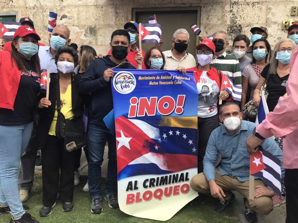 Venezuela: militantes del PSUV se movilizan en solidaridad con Cuba