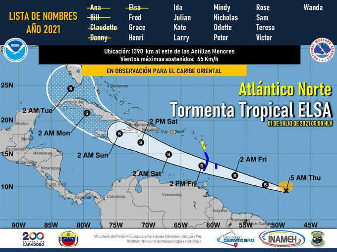 Advierten que tormenta Elsa se acerca a Venezuela