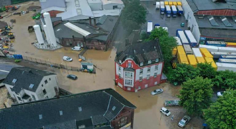 (Videos) Aseguran que cambio climático es la principal causa de las inundaciones en Europa