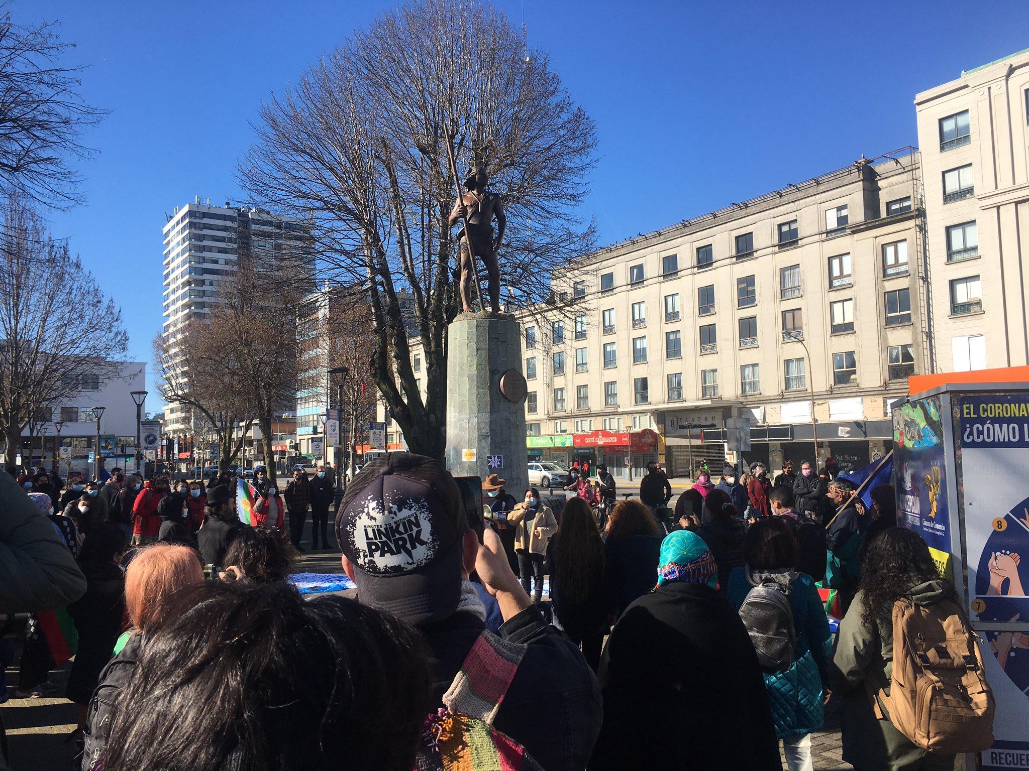 Convocan a manifestación en cerro Huelén en Santiago tras asesinato de weichafe Pablo Marchant