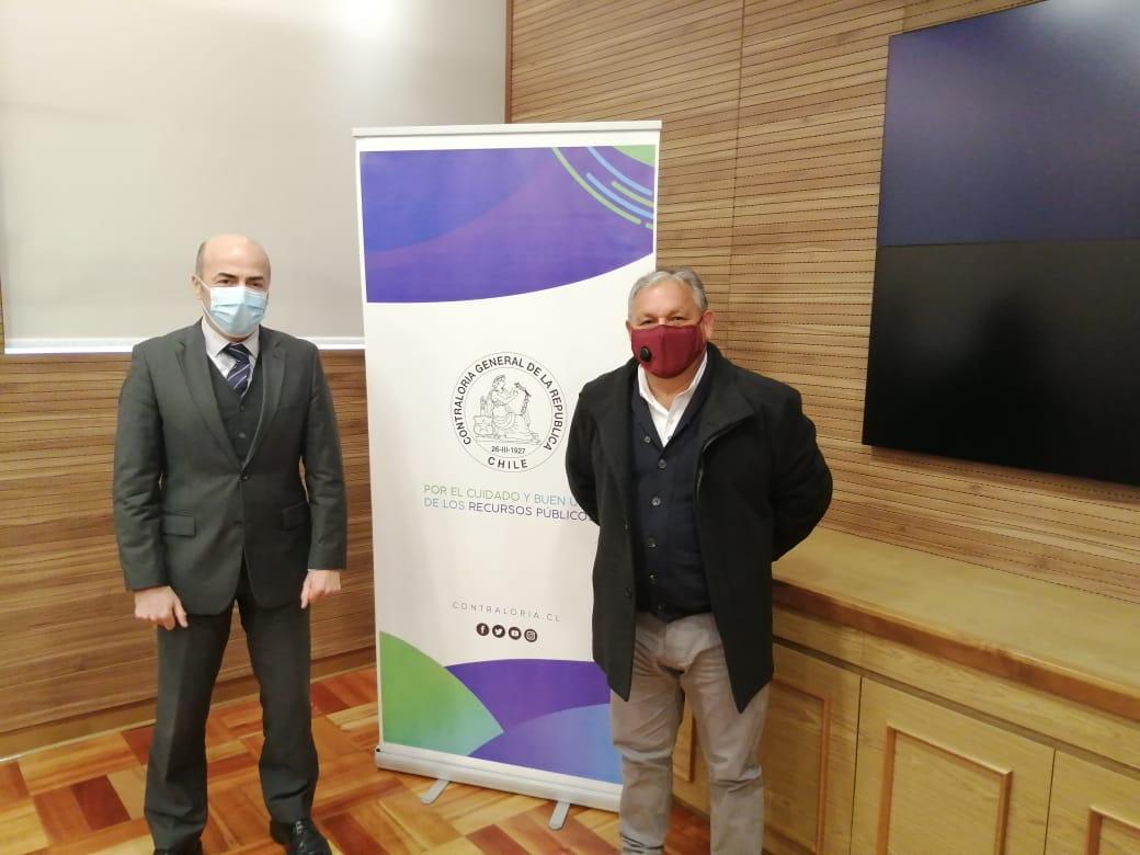 Gobernador (e) de Valparaíso, Rodrigo Mundaca, se reunió con contralor general para abordar temas de la región, medio ambiente y descentralización