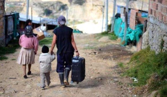 Colombia: número de personas desplazadas en primer trimestre aumentó 193 %