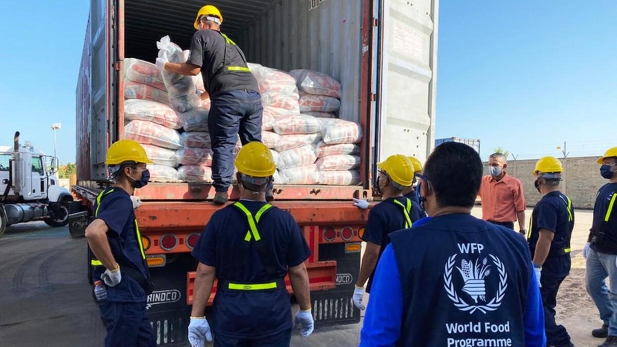 Venezuela recibe el primer lote del Programa Mundial de Alimentos