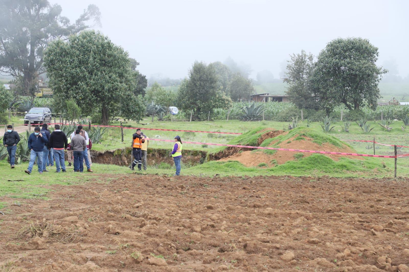 Se forma un nuevo socavón en Puebla, ahora en Ahuazotepec