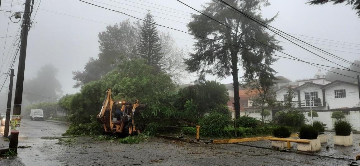 ¡Resiste al huracán la capital poblana! Ayuntamiento notifica saldo blanco tras el paso del huracán Grace
