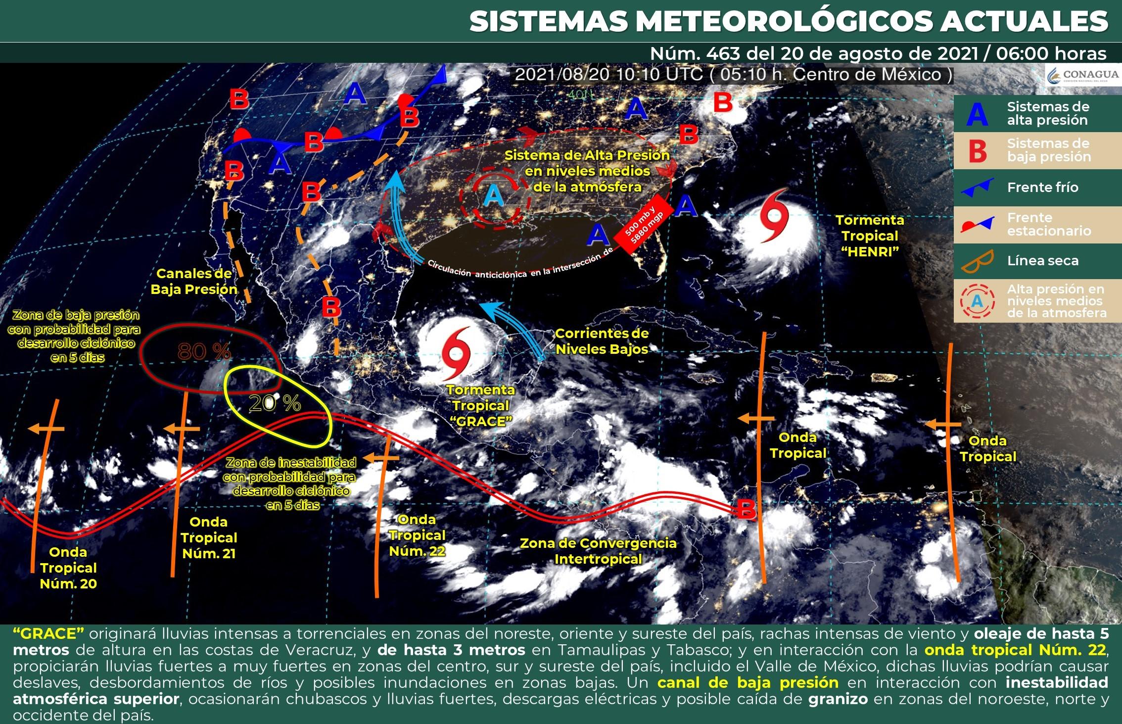 'Grace' reingresará por Veracruz, alertan por lluvias torrenciales