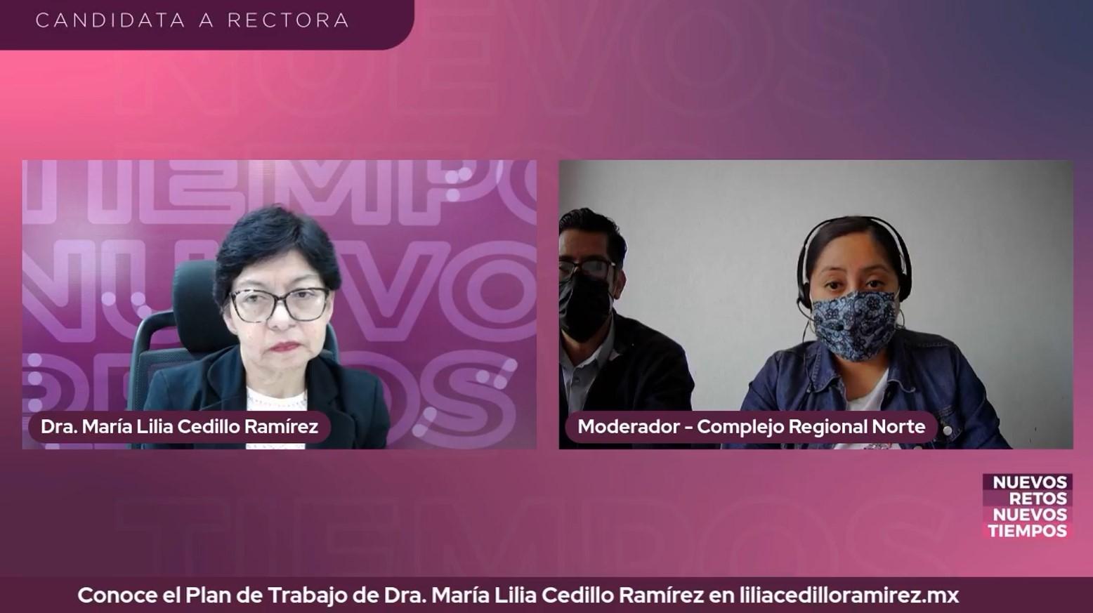 Lilia Cedillo promete a comunidad de la BUAP una gestión cercana