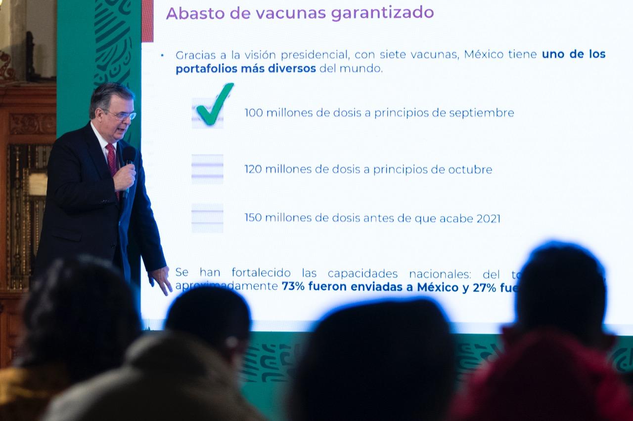 Abasto de vacunas antiCOVID está garantizado en México: SRE