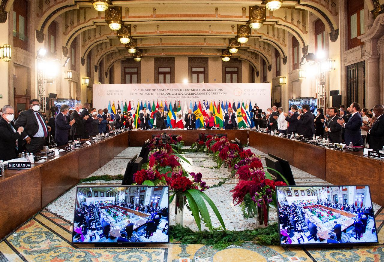 Concluye en Palacio Nacional de México Sexta Cumbre de Estados Latinoamericanos y Caribeños