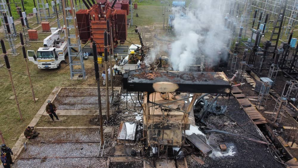 Autoridades venezolanas evalúan daños ocasionados por ataque terrorista a  subestación eléctrica