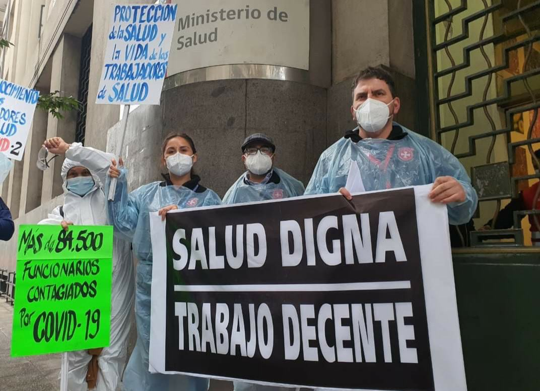 Fenats rechaza despidos del personal de refuerzo Covid: Exigen mantenerlos y aumentar el presupuesto para 2022