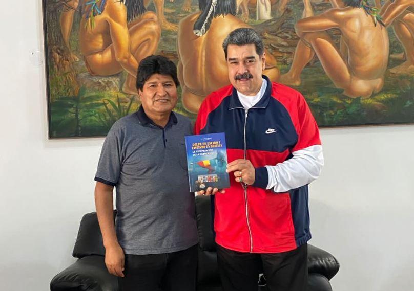 Maduro recibe visita de Evo y reafirman compromiso de las luchas por venir