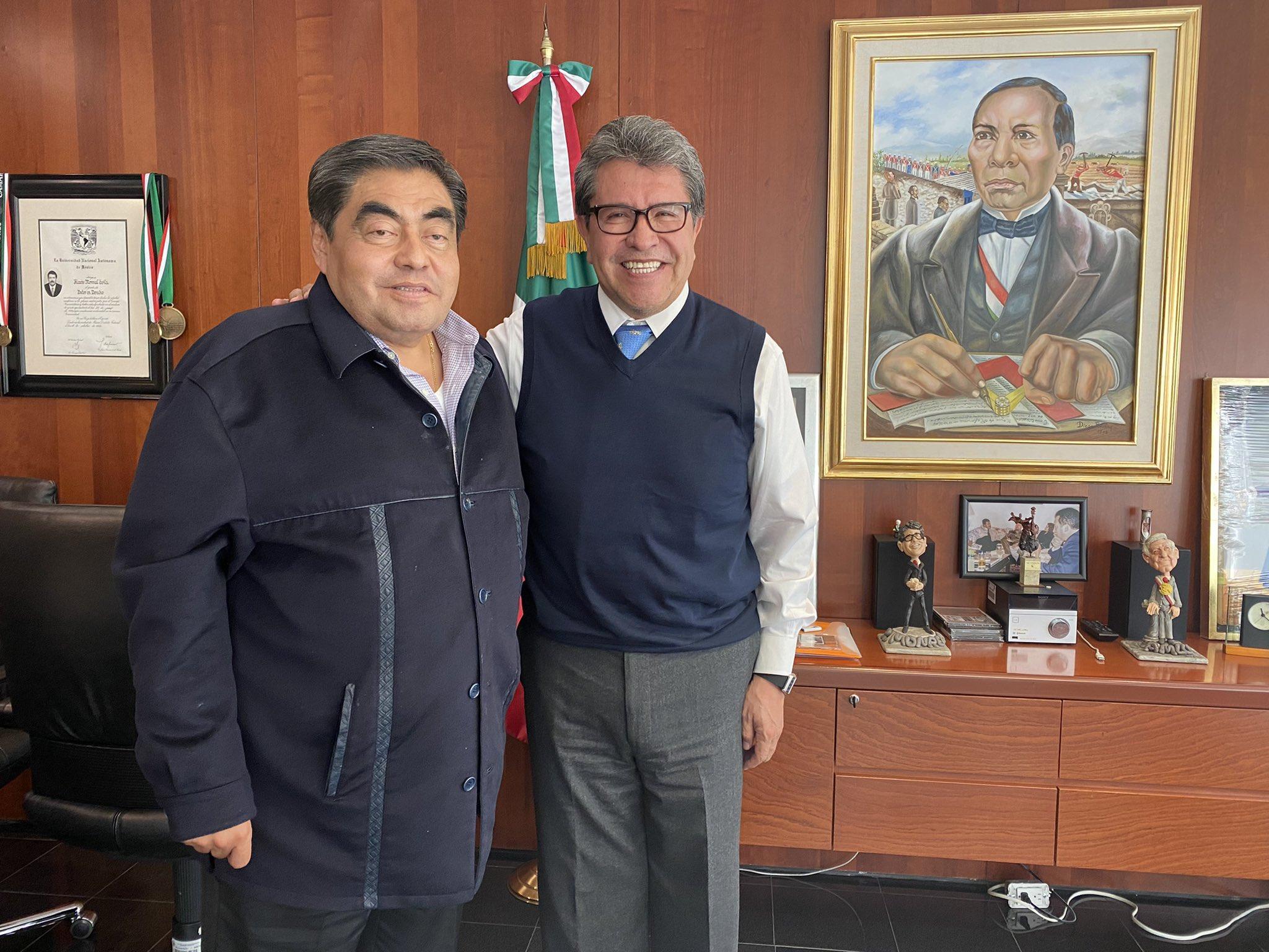 Agenda legislativa, revocación de mandato y juicio político: temas de una «plática amigable y sincera» entre Ricardo Monreal y Miguel Barbosa Huerta