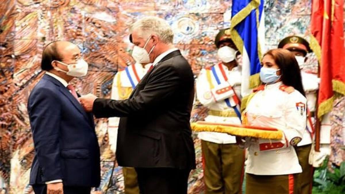 Presidente de Vietnam visita Cuba para estrechar relaciones bilaterales