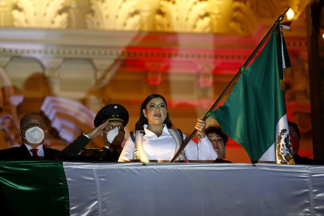 Claudia Rivera da su último grito como presidenta municipal