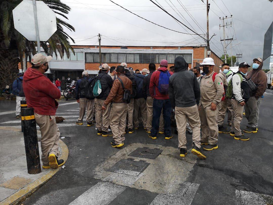 Trabajadores de Gas Bienestar protestan por salarios
