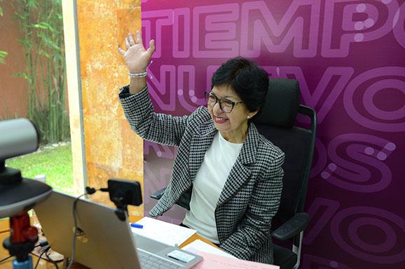 Lilia Cedillo inicia campaña para la Rectoría de la BUAP
