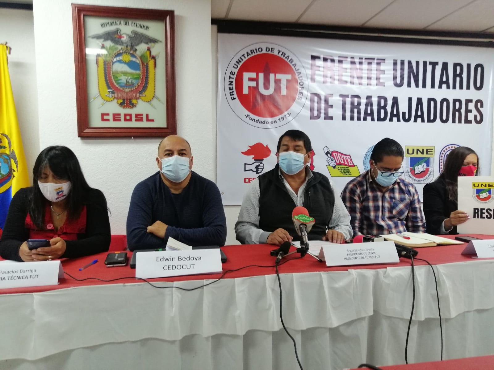 Organizaciones convocan a una gran movilización nacional en contra del gobierno de Lasso