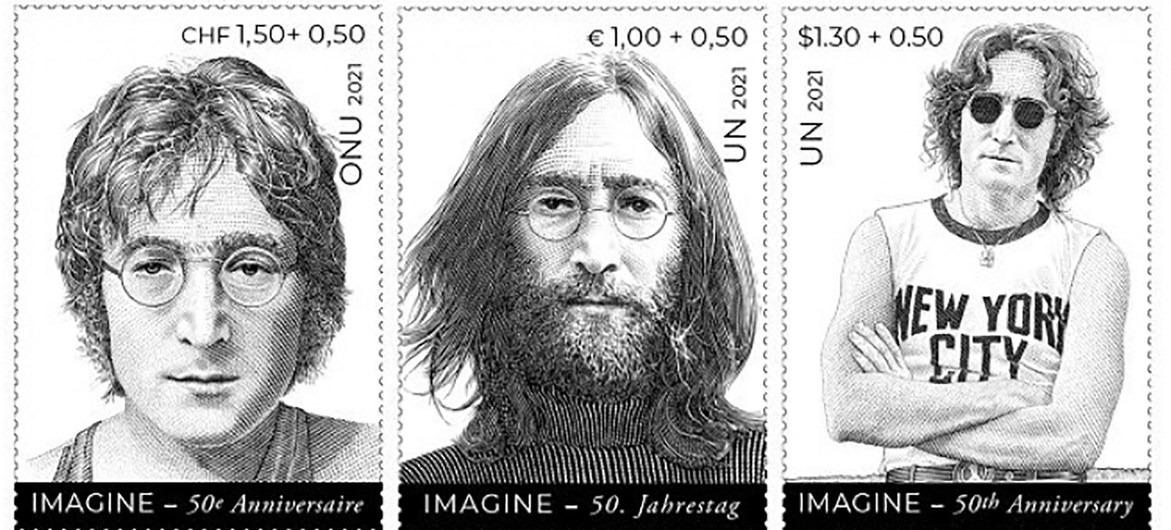 Plasman a John Lennon en sellos postales para celebrar la paz mundial