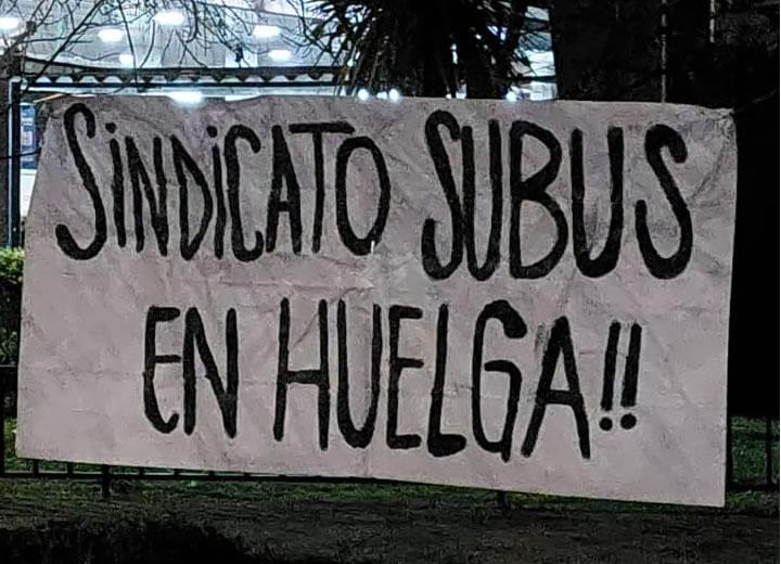 Sindicato de Subus en huelga: La empresa quiere que trabajemos prácticamente sin parar