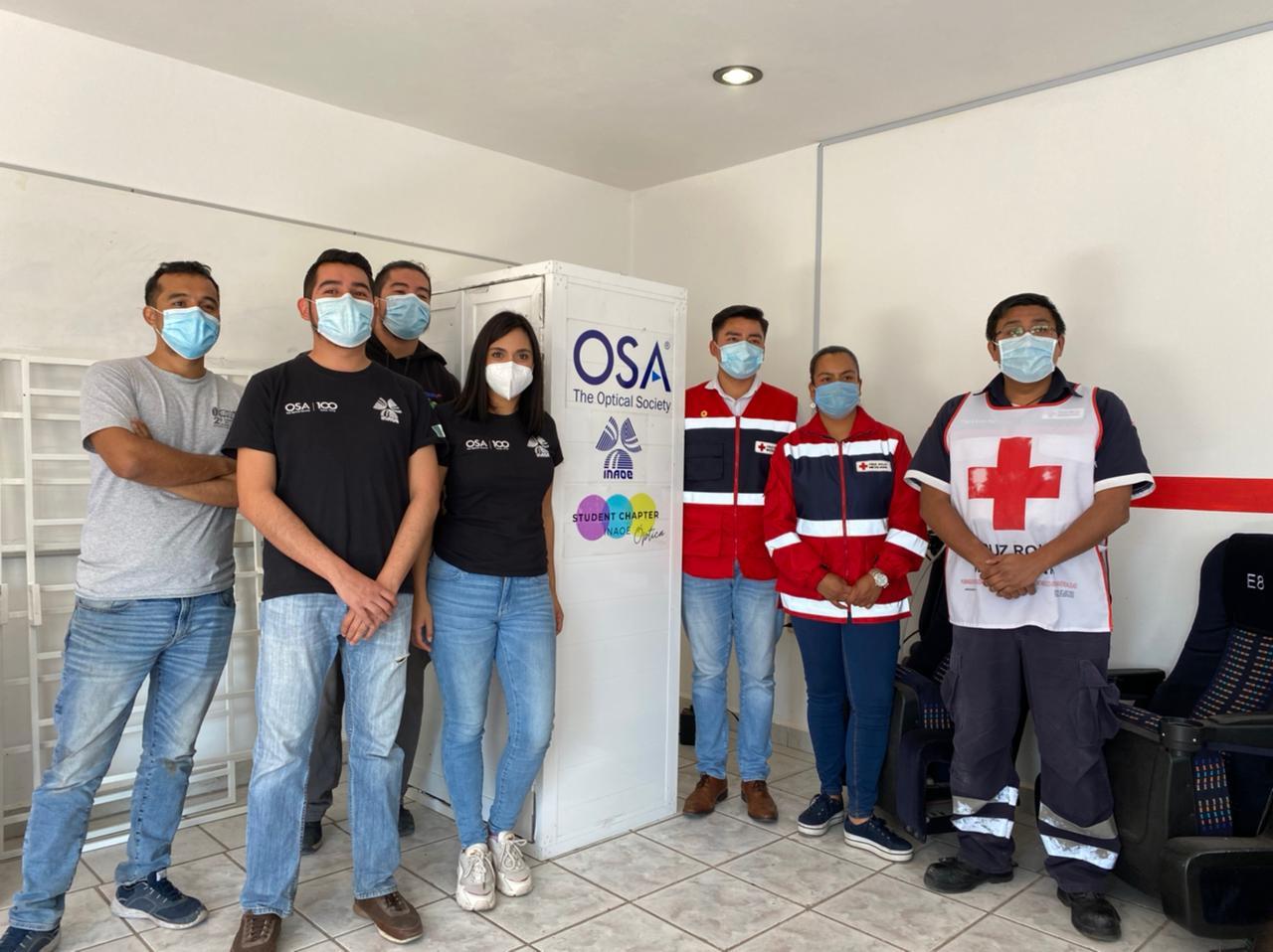 INAOE coopera en construcción de cabinas de desinfección médica