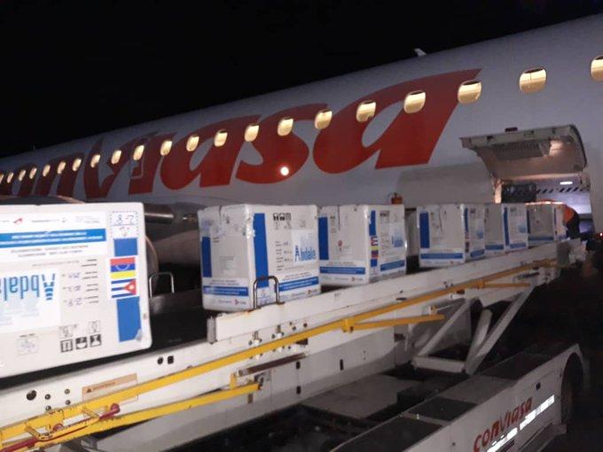 Llegaron a Venezuela 900 mil dosis de la vacuna Abdala