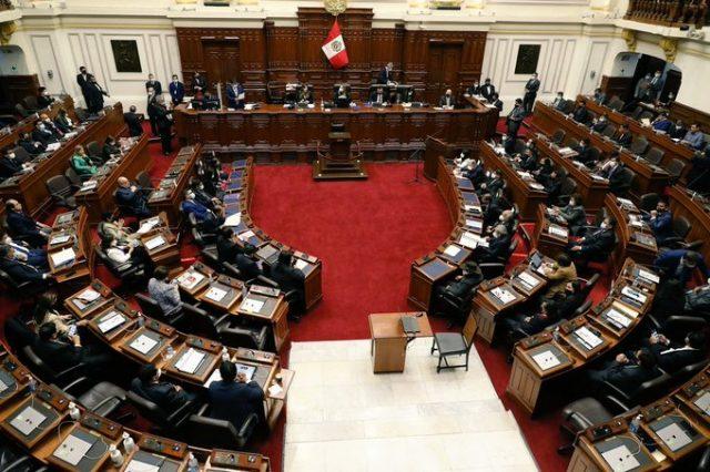 Congreso Perú sesión muerte