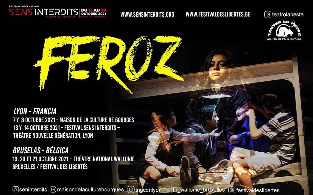 La Peste llevó hasta Francia y Bélgica su aplaudida obra «Feroz», inspirada en el libro testimonial «Mi infierno en el Sename» de Edison Llanos