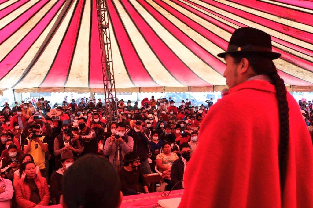 Movimiento indígena de Ecuador se declara en resistencia a partir del 26 de octubre