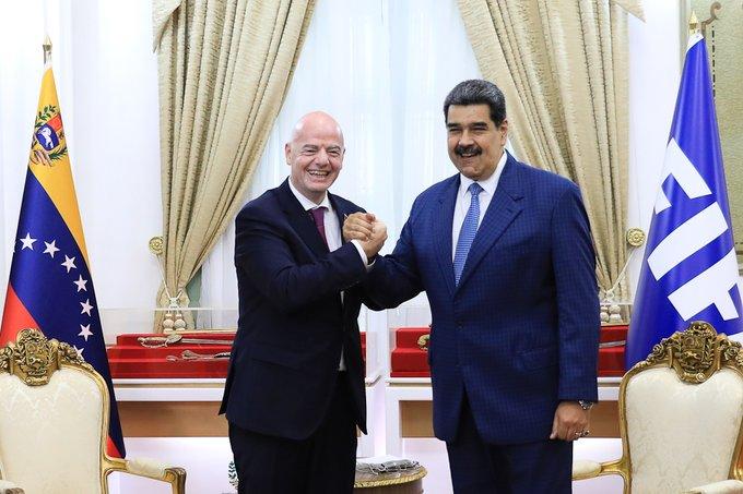 Maduro: pedí apoyo a la FIFA para recuperar y poner a tono todo el sistema de estadios