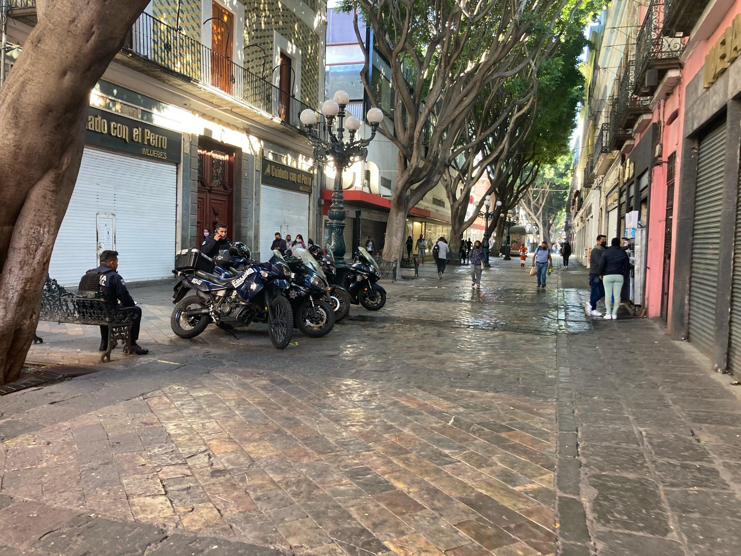 Cero ambulantes en centro de la ciudad de Puebla por tres días
