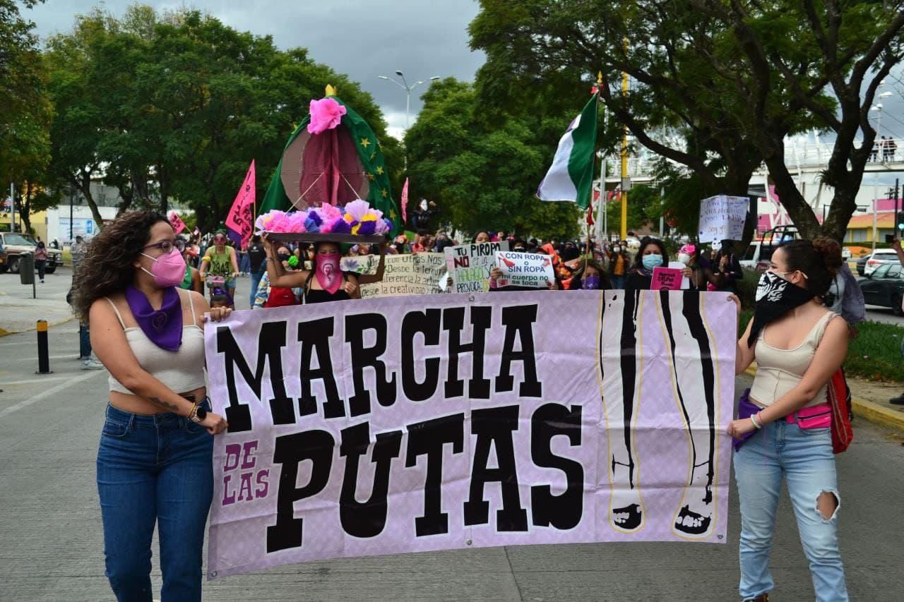 Ahora que estamos juntas, ahora que sí nos ven; realizan la XI Marcha de las Putas en Puebla