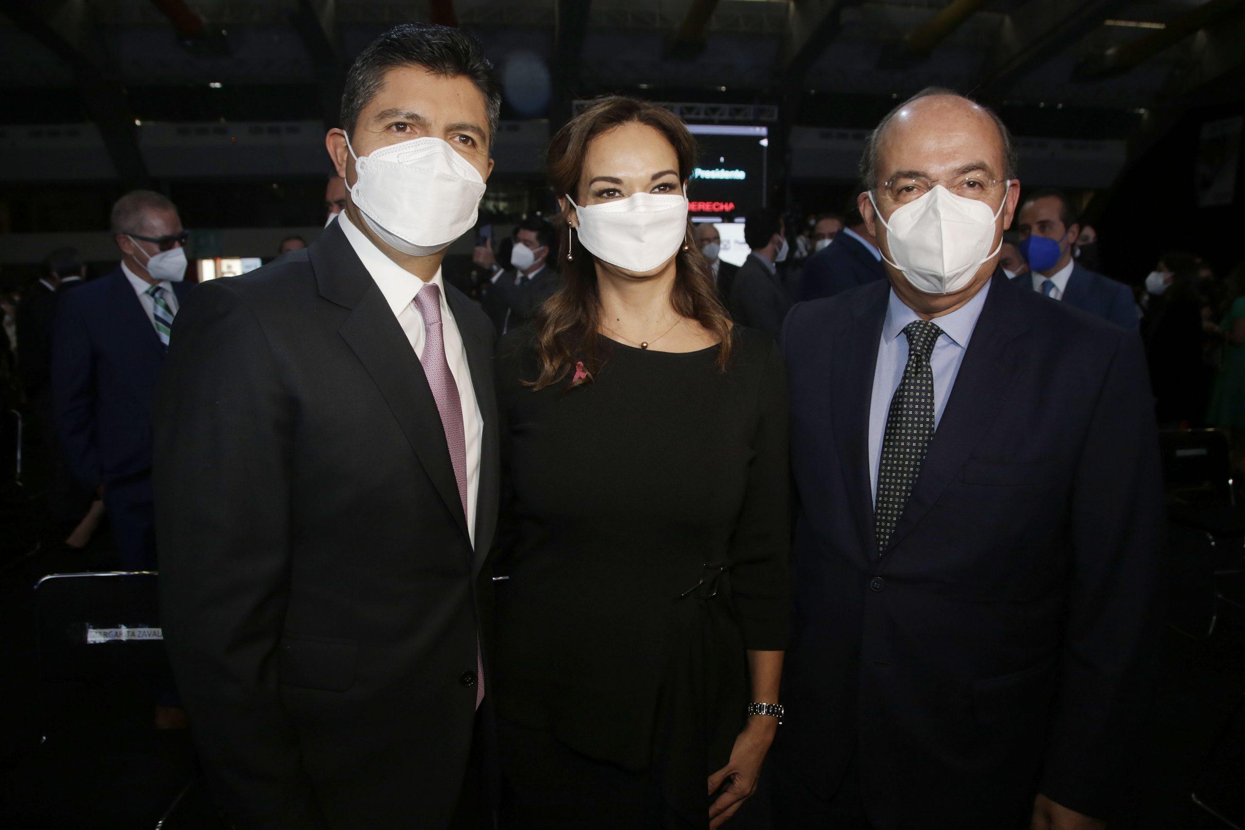 Calderón, Osorio Chong y Melquiades Morales acompañan a Rivera Pérez